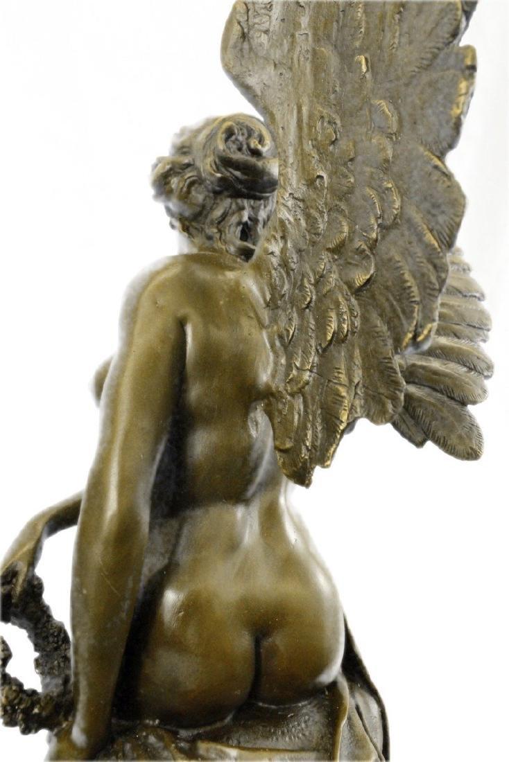 Becquerel Nude Angel Bronze Sculpture - 4