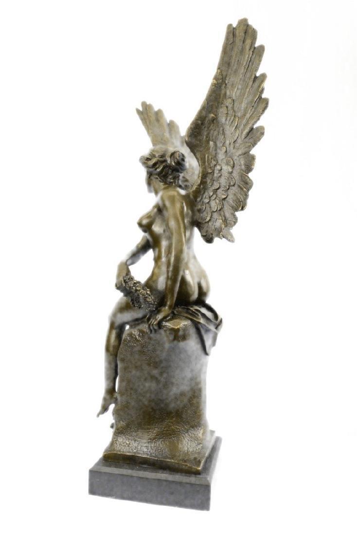 Becquerel Nude Angel Bronze Sculpture - 7