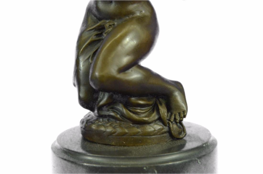 Erotic Nude Girl Candleholder Bronze Sculpture - 3