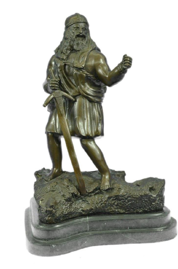 Viking Warrior With Sword Bronze Sculpture
