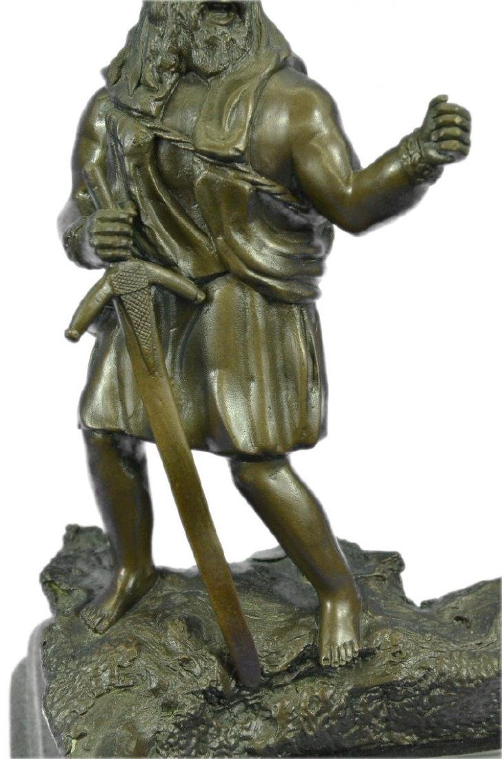 Viking Warrior With Sword Bronze Sculpture - 3