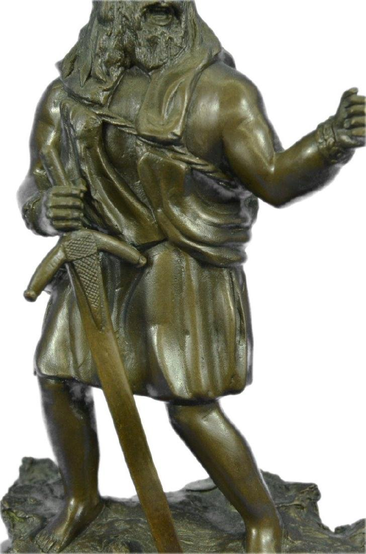 Viking Warrior With Sword Bronze Sculpture - 4
