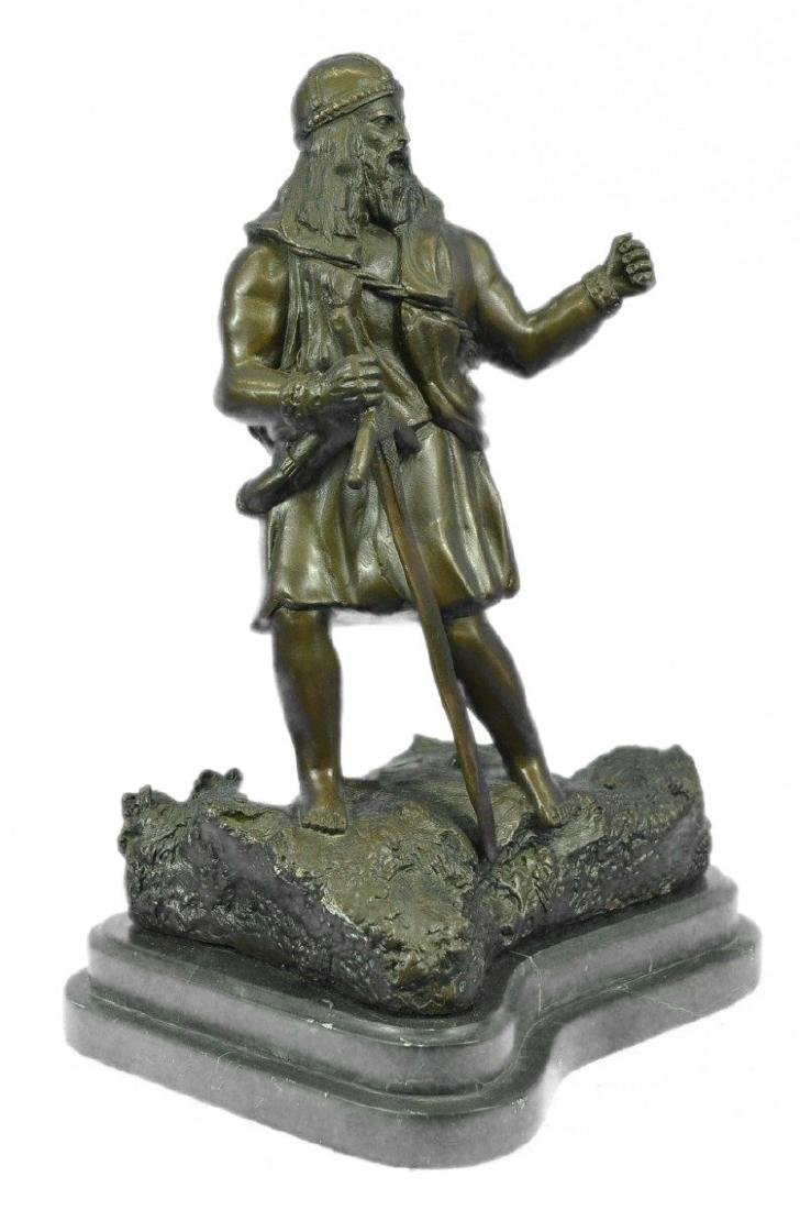 Viking Warrior With Sword Bronze Sculpture - 5