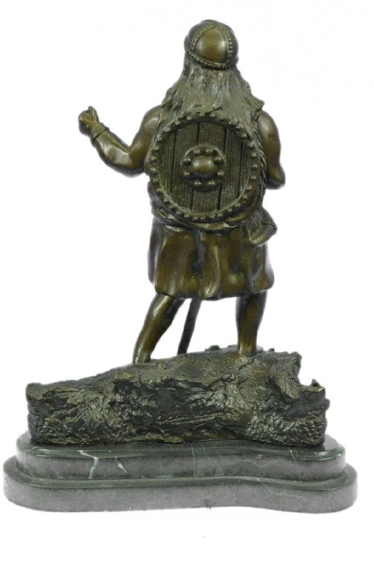 Viking Warrior With Sword Bronze Sculpture - 7