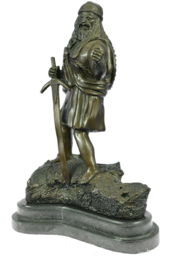 Viking Warrior With Sword Bronze Sculpture - 9