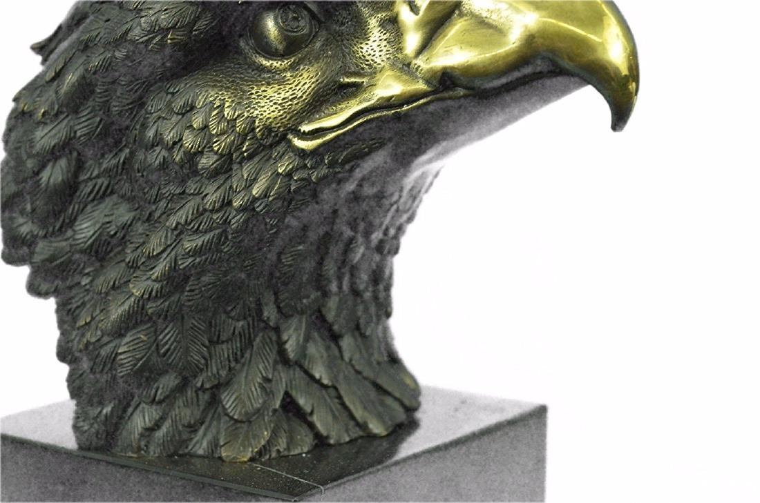 Magnificent American Bald Eagle Bronze Sculpture - 3
