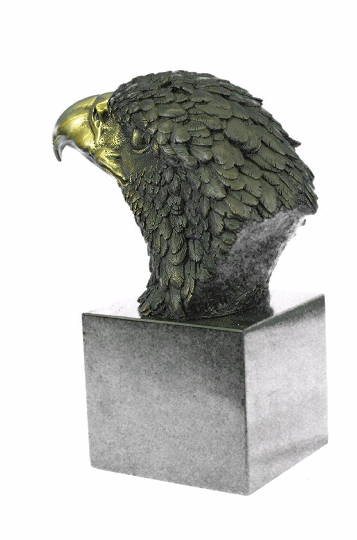 Magnificent American Bald Eagle Bronze Sculpture - 7
