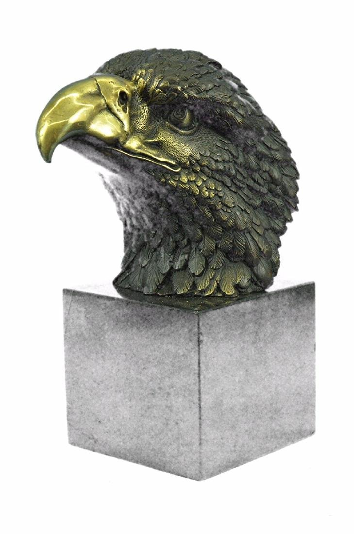 Magnificent American Bald Eagle Bronze Sculpture - 8
