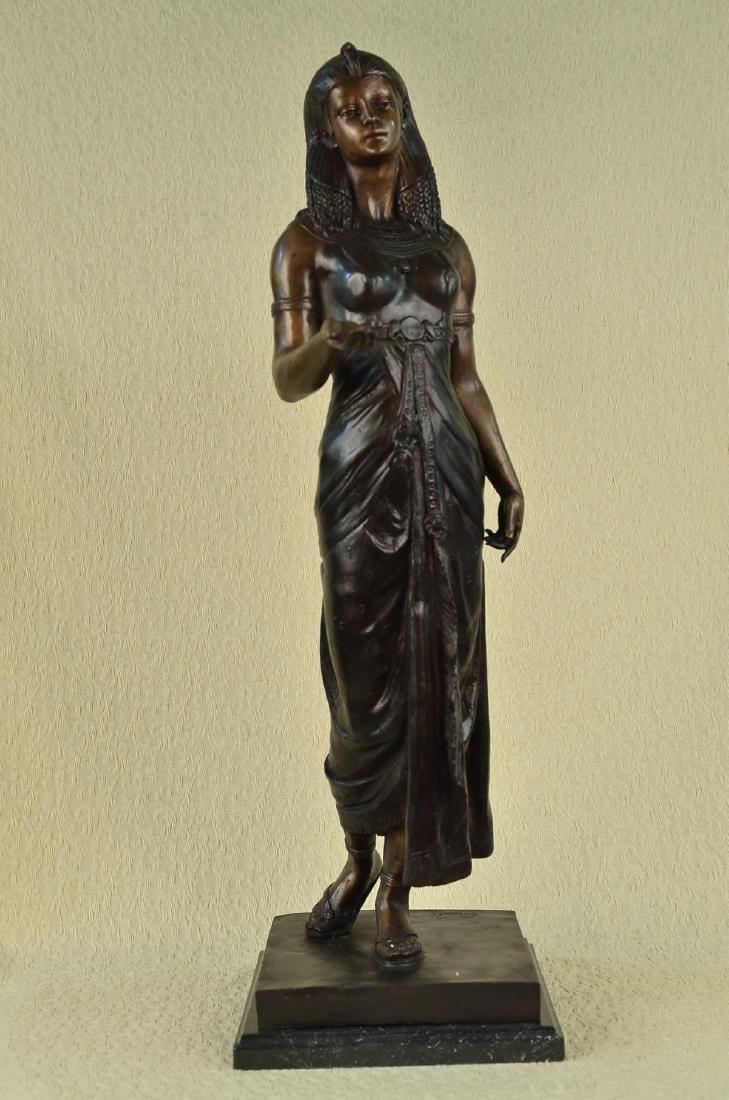 Egyptian Revival Royal princess Bronze Figural