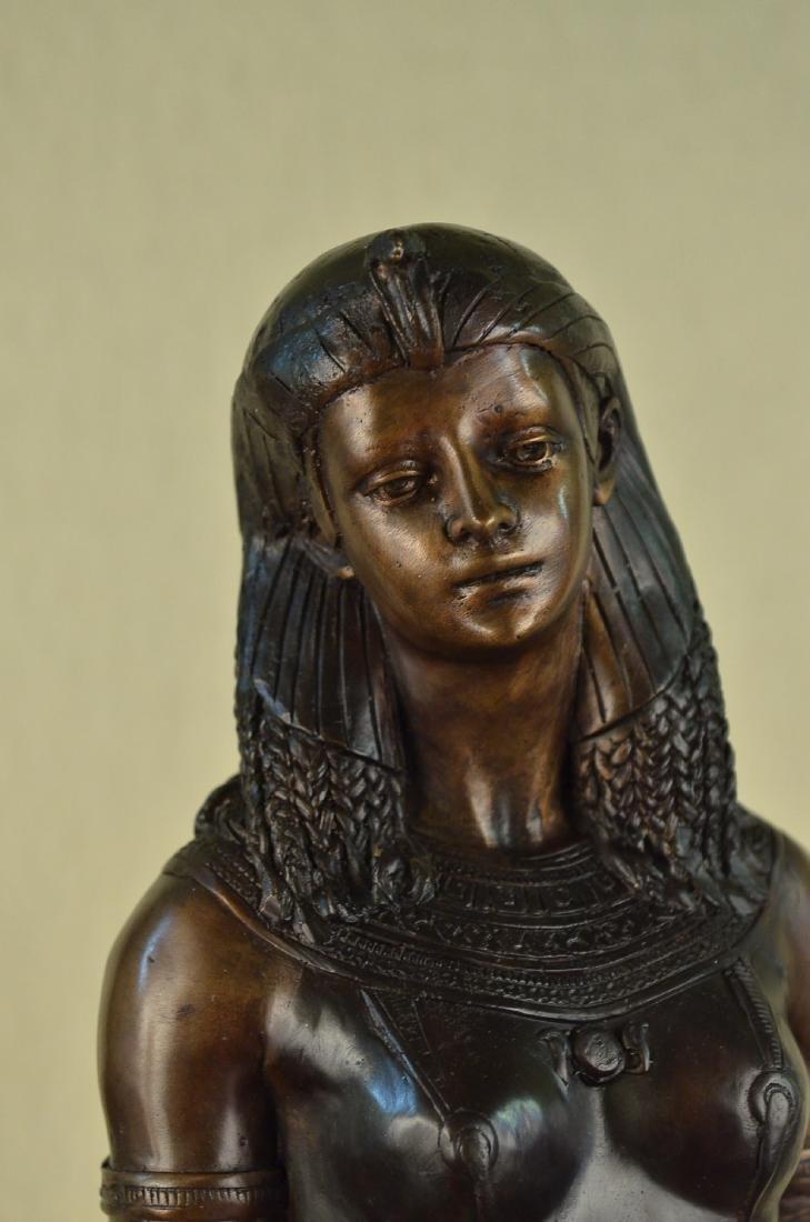 Egyptian Revival Royal princess Bronze Figural - 2