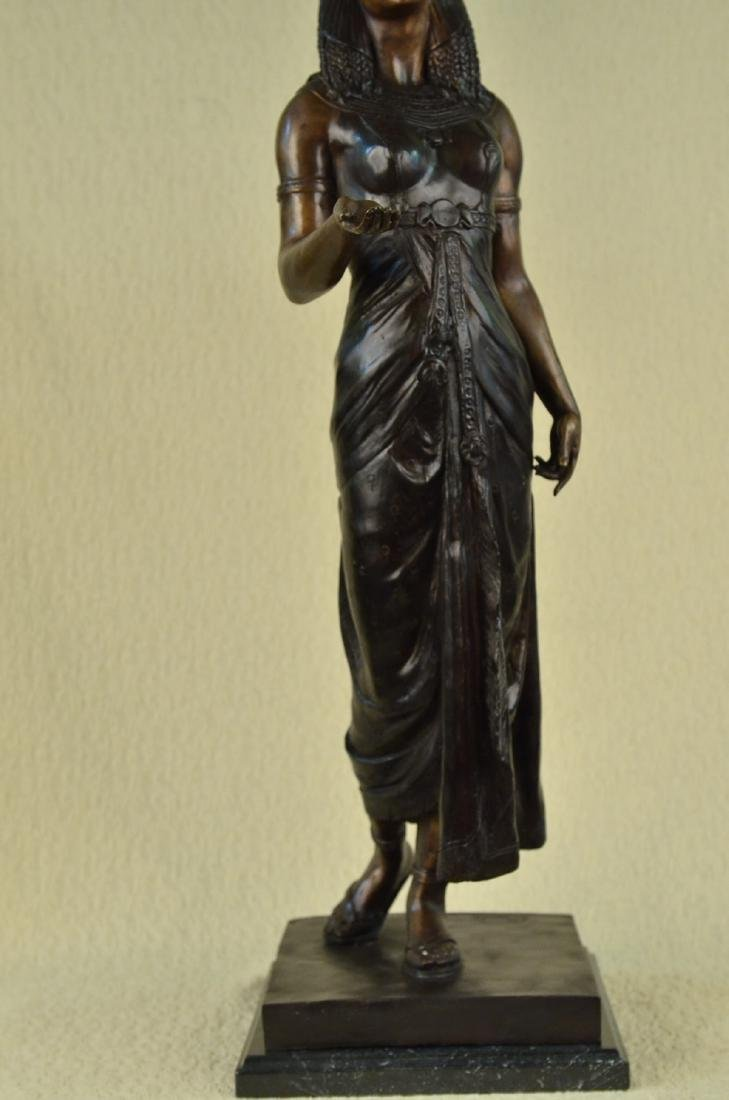 Egyptian Revival Royal princess Bronze Figural - 3