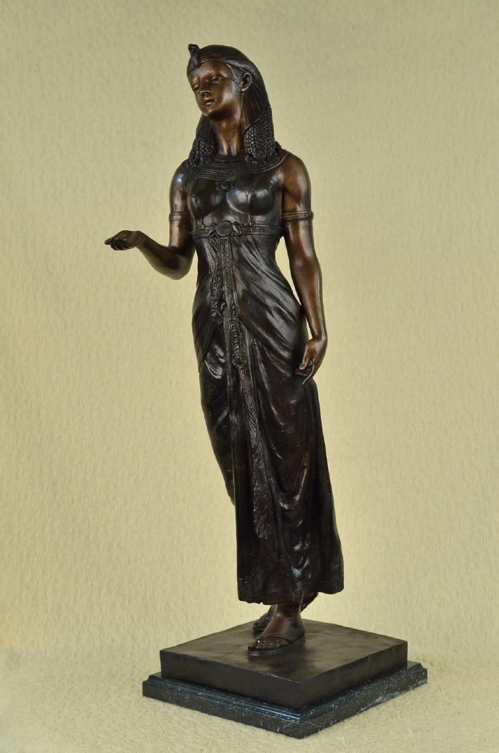 Egyptian Revival Royal princess Bronze Figural - 4