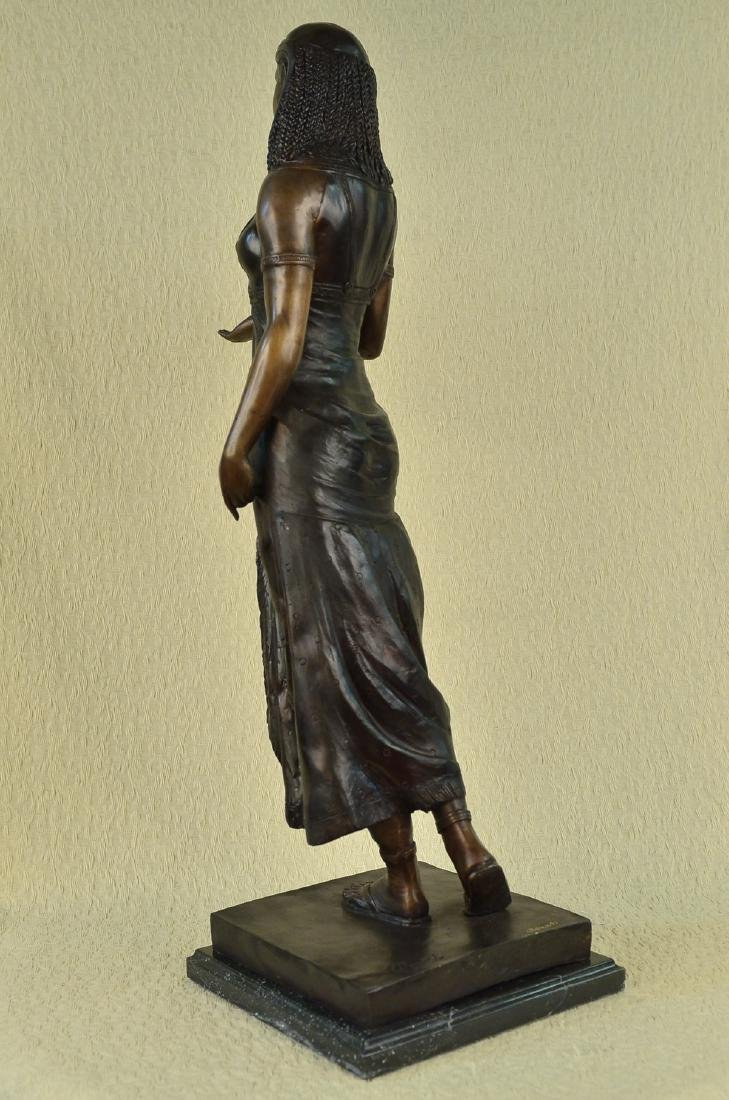Egyptian Revival Royal princess Bronze Figural - 5