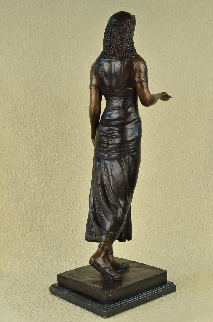 Egyptian Revival Royal princess Bronze Figural - 6