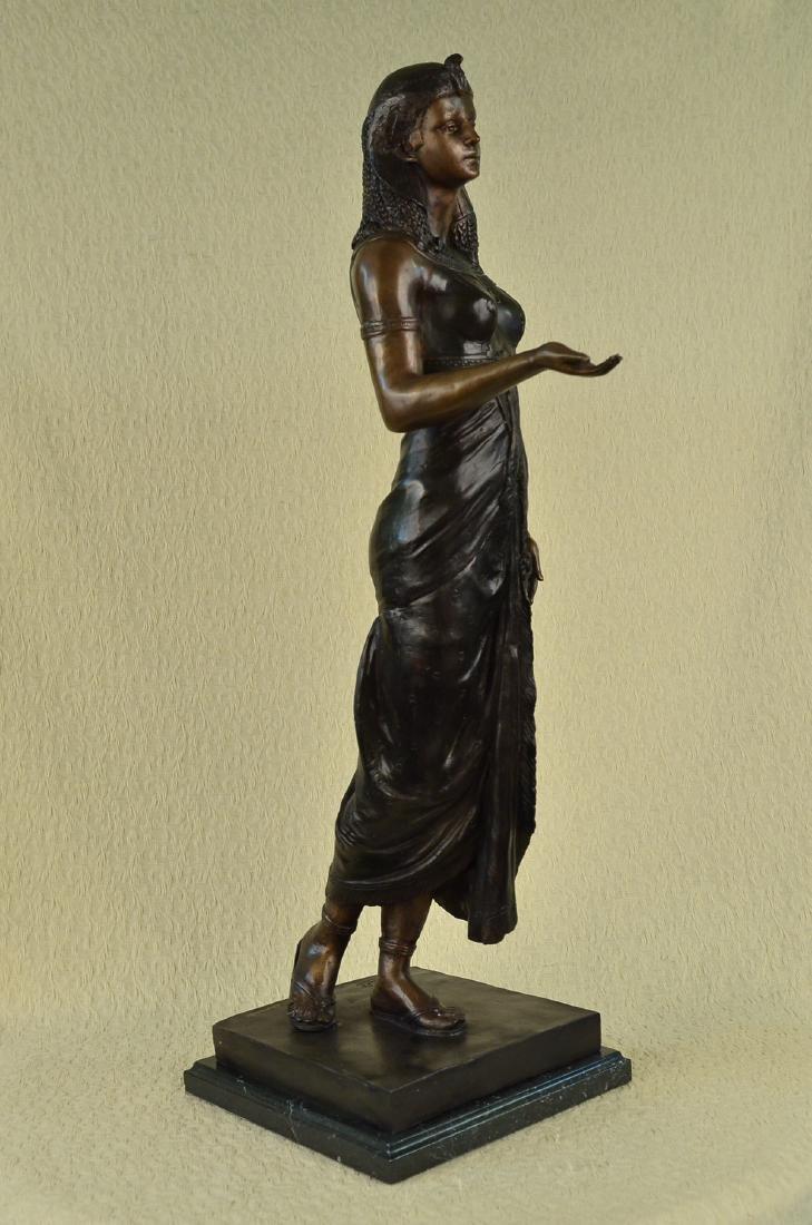 Egyptian Revival Royal princess Bronze Figural - 7