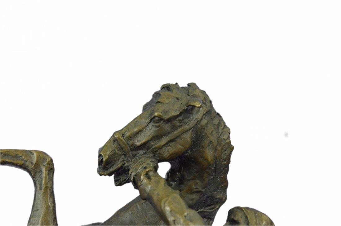 Country Western Cowboy Horse Ranch Bronze Sculpture - 2