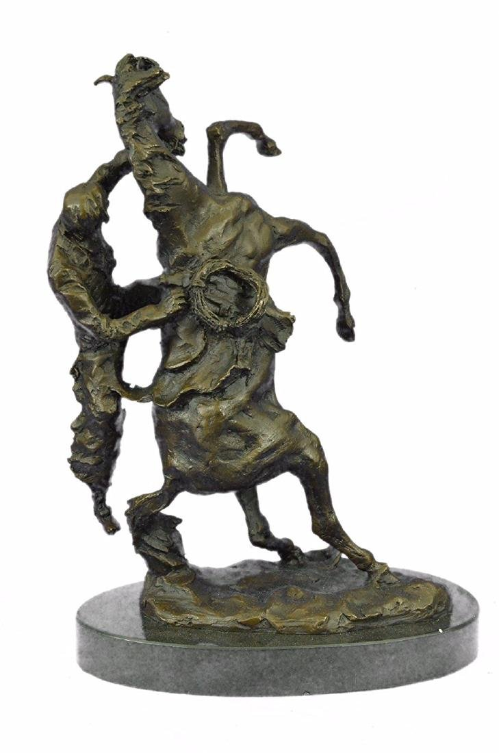 Country Western Cowboy Horse Ranch Bronze Sculpture - 8