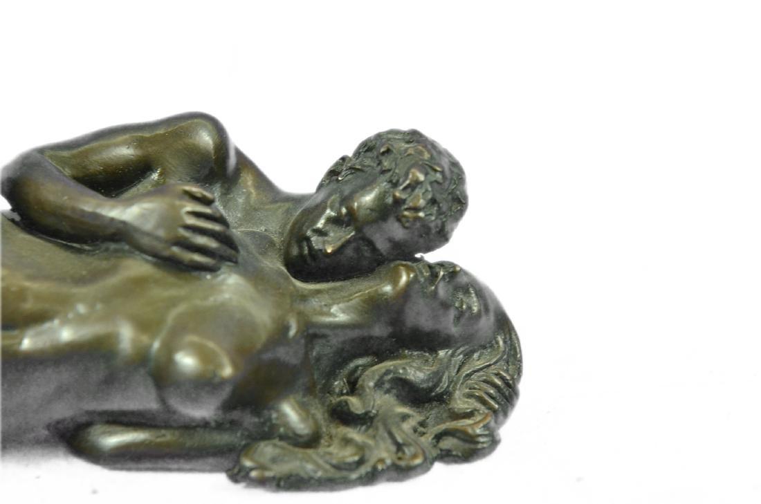 Couple Making Passionate Love Bronze Sculpture - 2