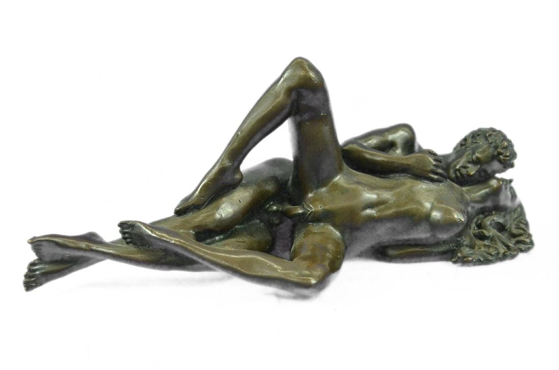 Couple Making Passionate Love Bronze Sculpture - 5