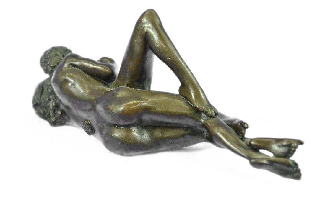 Couple Making Passionate Love Bronze Sculpture - 6
