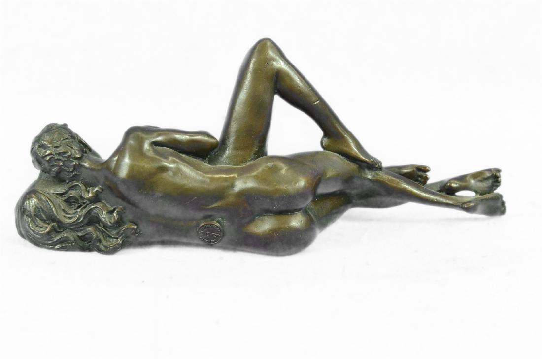 Couple Making Passionate Love Bronze Sculpture - 7