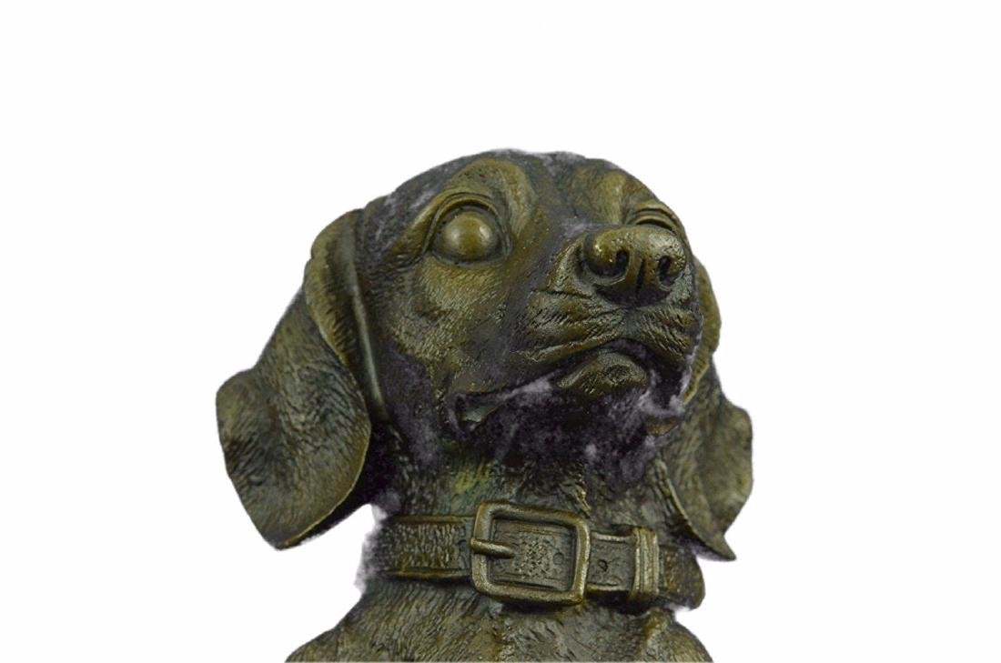 Pup Hush Puppy Dog Bronze Sculpture - 2