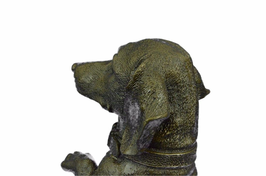 Pup Hush Puppy Dog Bronze Sculpture - 3