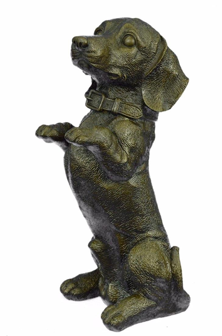 Pup Hush Puppy Dog Bronze Sculpture - 5