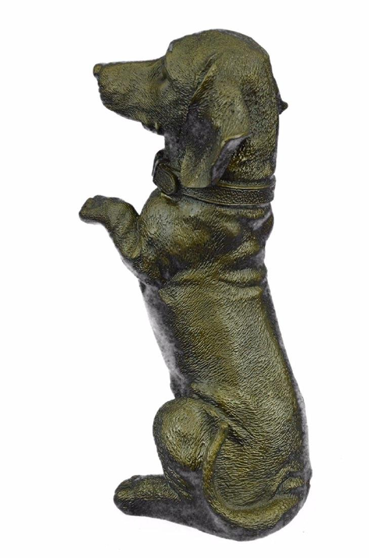 Pup Hush Puppy Dog Bronze Sculpture - 6