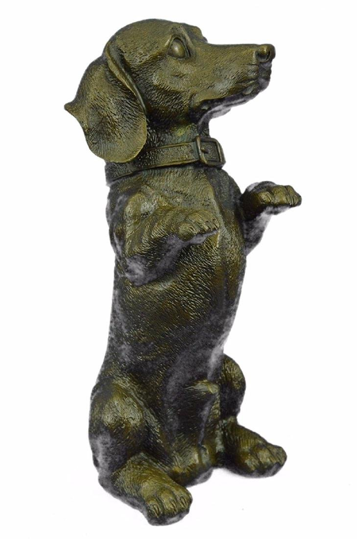 Pup Hush Puppy Dog Bronze Sculpture - 9