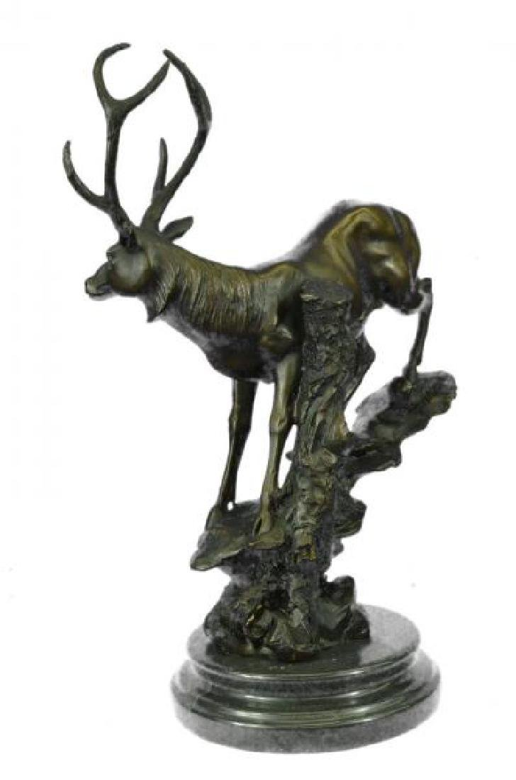 Elk Deer Stag Buck Wildlife Edition Bronze Statue - 2