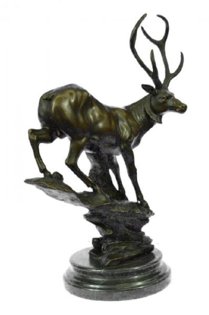 Elk Deer Stag Buck Wildlife Edition Bronze Statue - 5