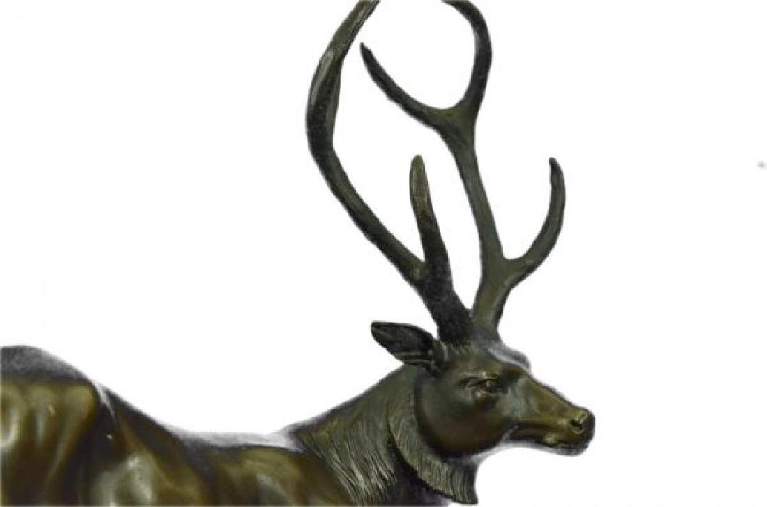 Elk Deer Stag Buck Wildlife Edition Bronze Statue - 6