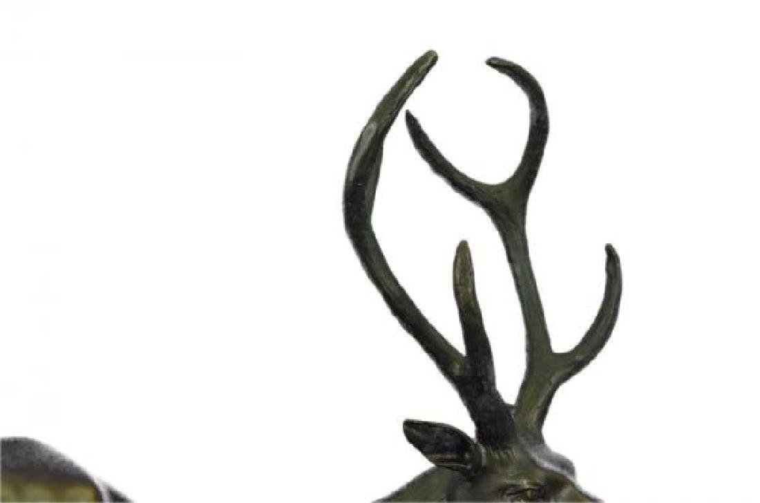 Elk Deer Stag Buck Wildlife Edition Bronze Statue - 8