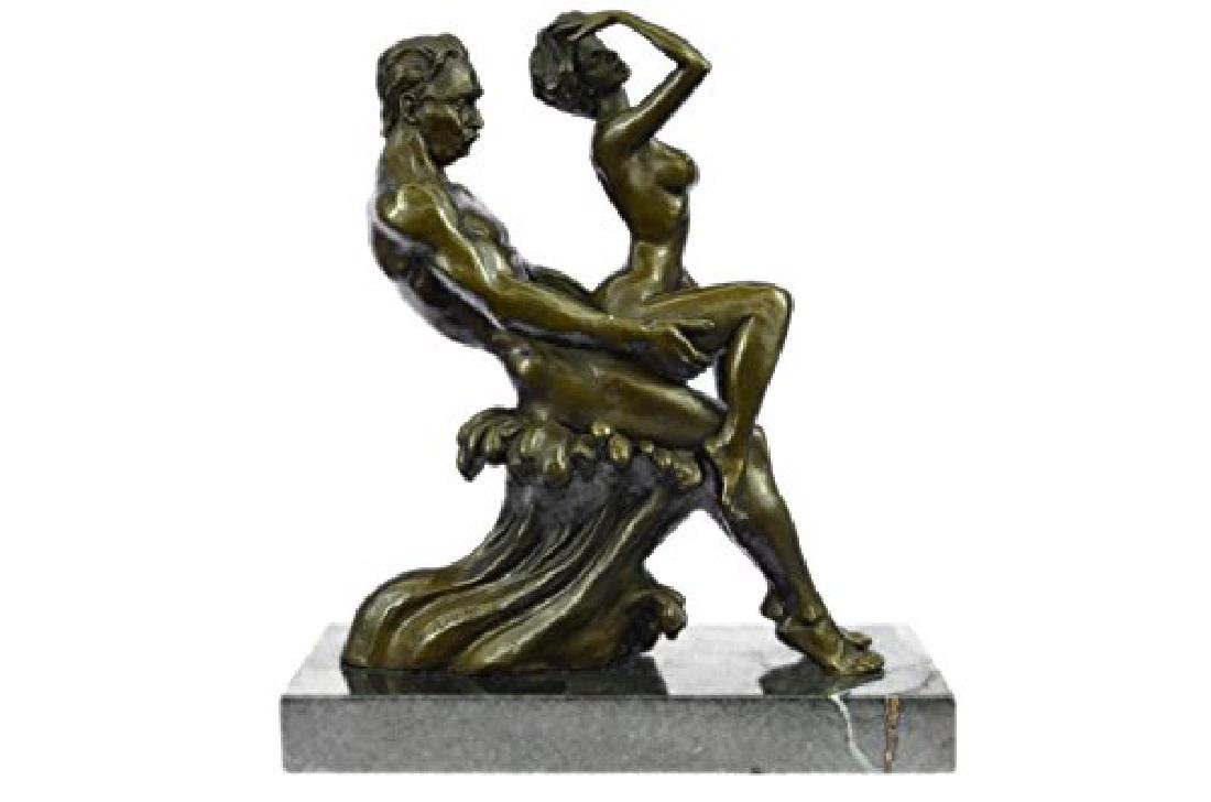 Couple Making Love Bronze Sculpture - 2