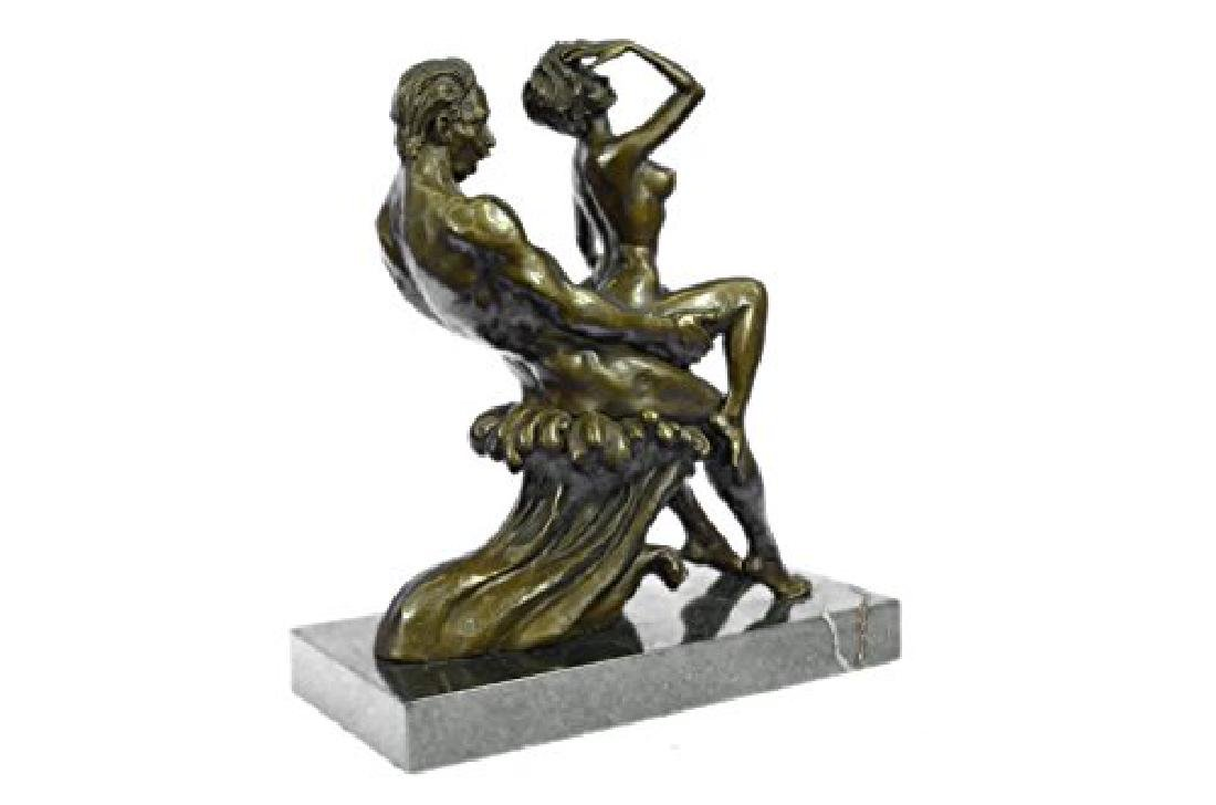 Couple Making Love Bronze Sculpture - 3
