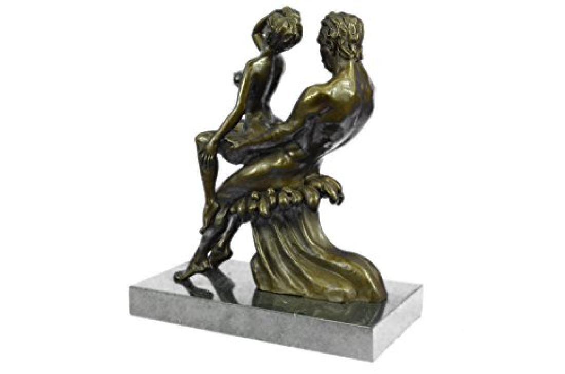 Couple Making Love Bronze Sculpture - 4