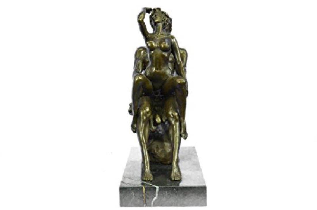 Couple Making Love Bronze Sculpture - 6