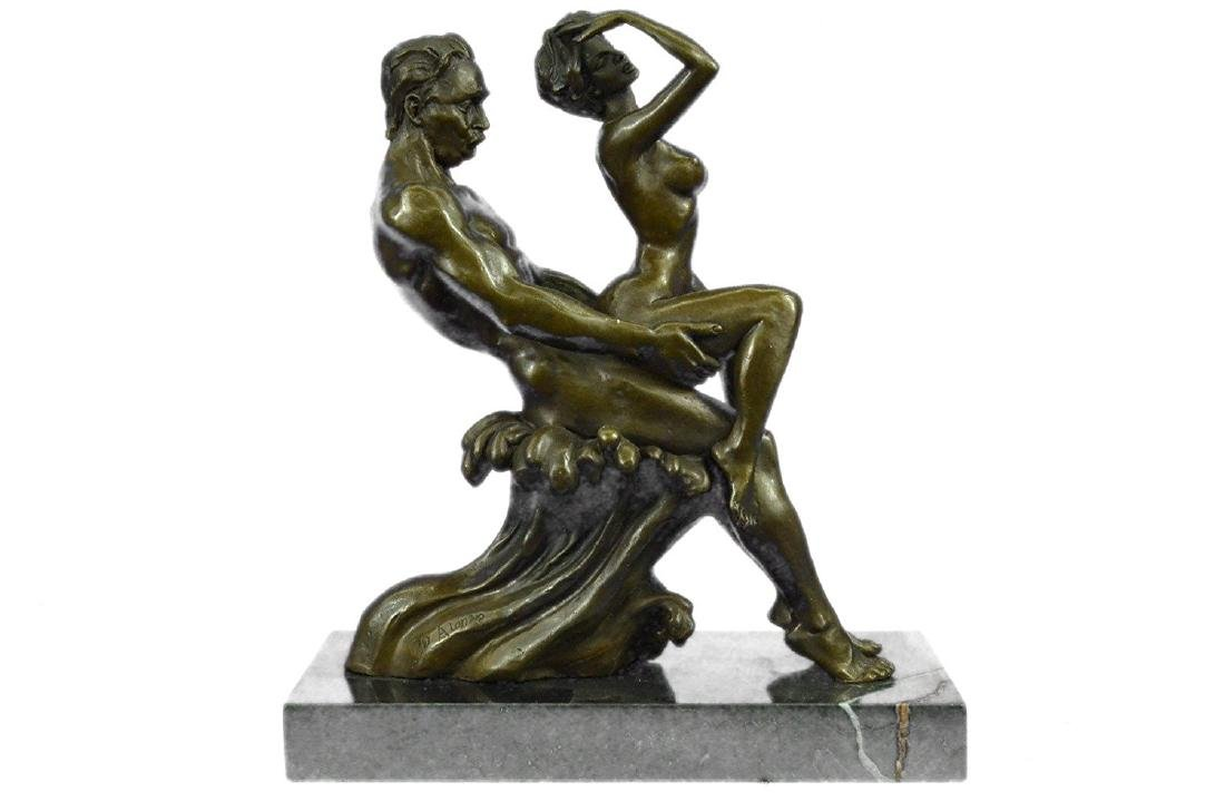 Couple Making Love Bronze Sculpture - 8