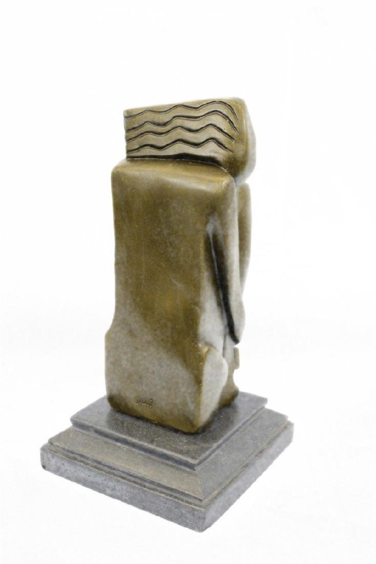 Woman Marble Base Bronze Figurine - 6