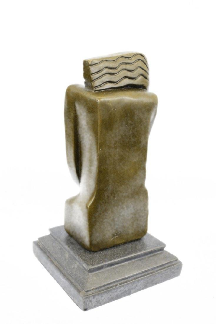 Woman Marble Base Bronze Figurine - 7