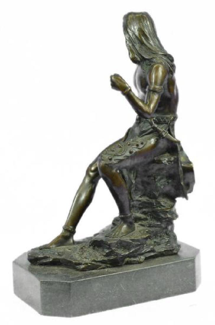 Nude Native American Warrior Bronze Statue - 2