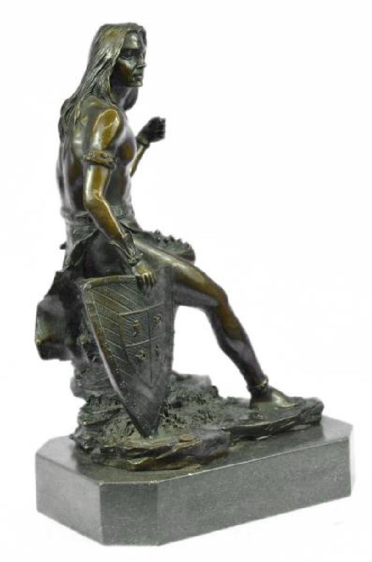 Nude Native American Warrior Bronze Statue - 5