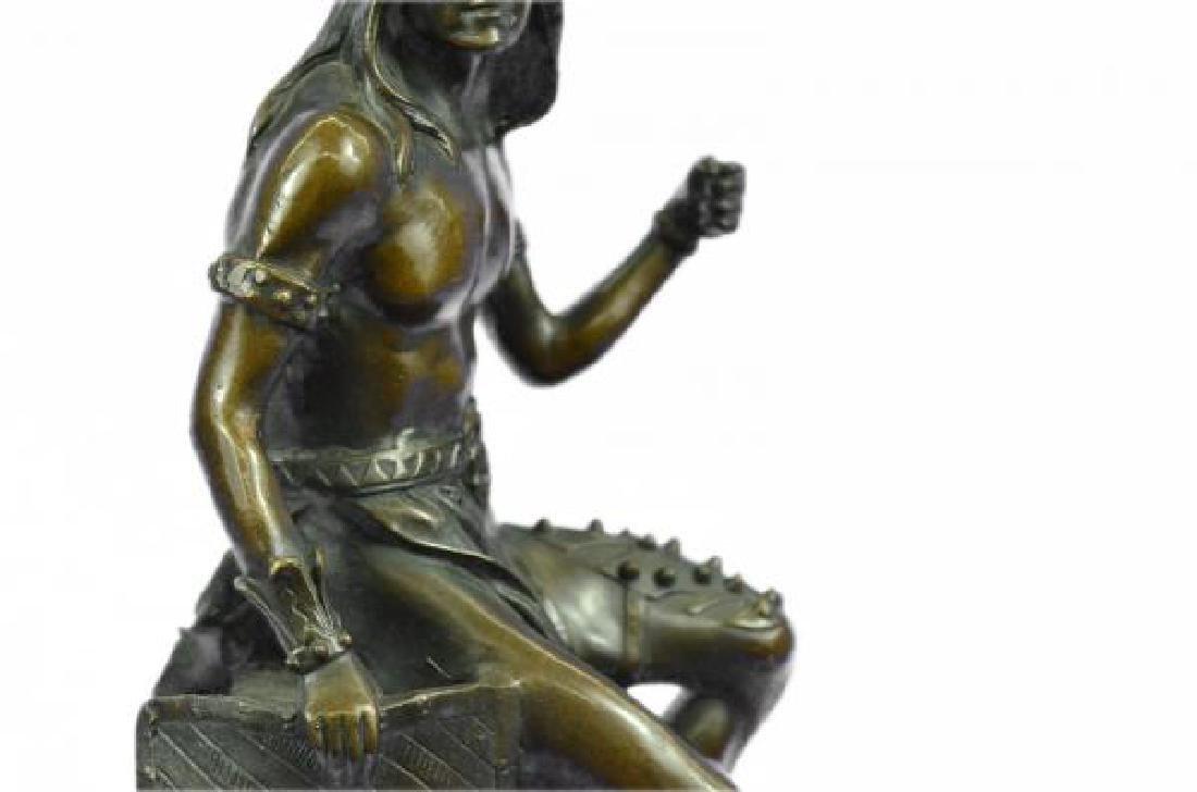 Nude Native American Warrior Bronze Statue - 7