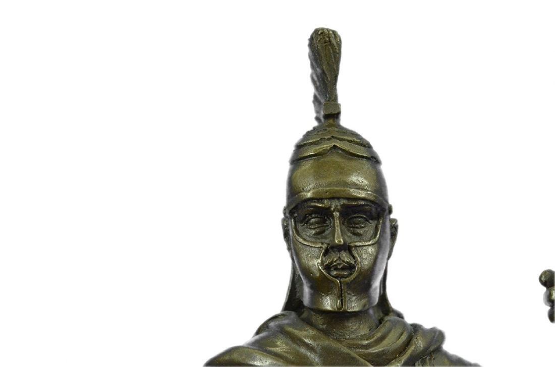 Roman Warrior with Armor Bronze Sculpture - 2