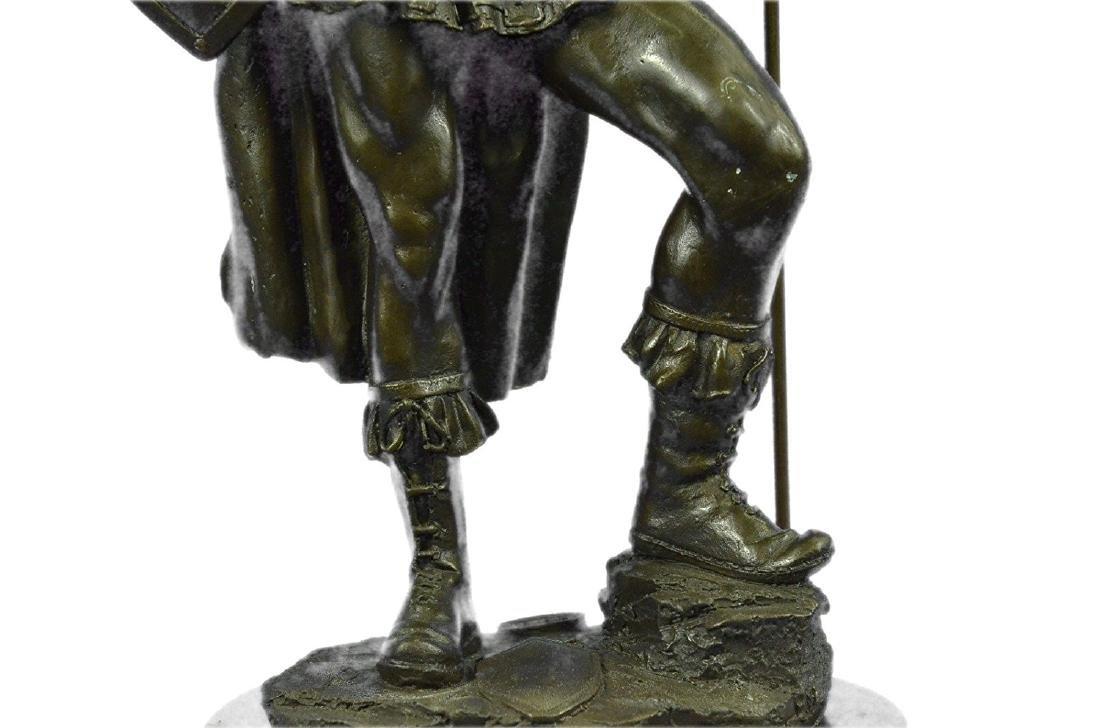 Roman Warrior with Armor Bronze Sculpture - 3