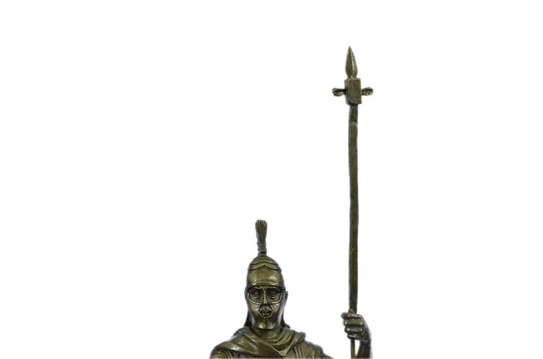 Roman Warrior with Armor Bronze Sculpture - 4