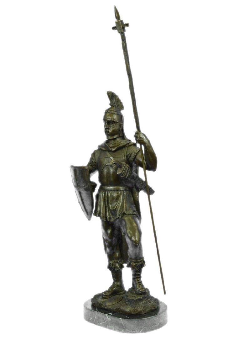 Roman Warrior with Armor Bronze Sculpture - 5