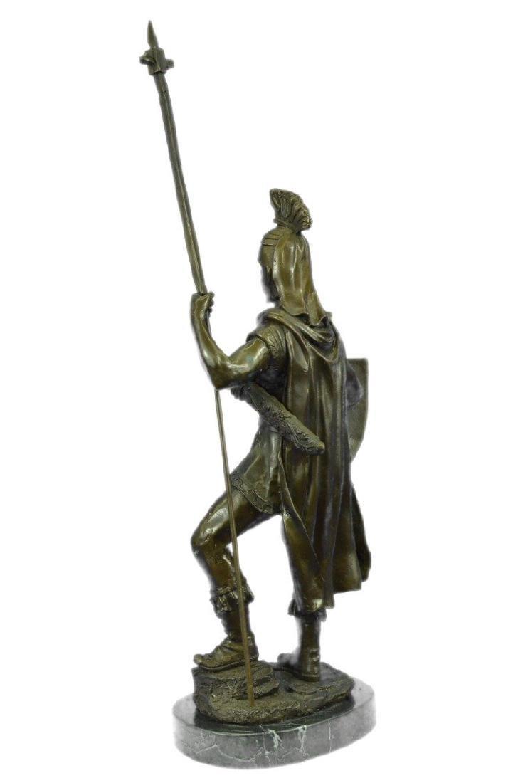 Roman Warrior with Armor Bronze Sculpture - 6