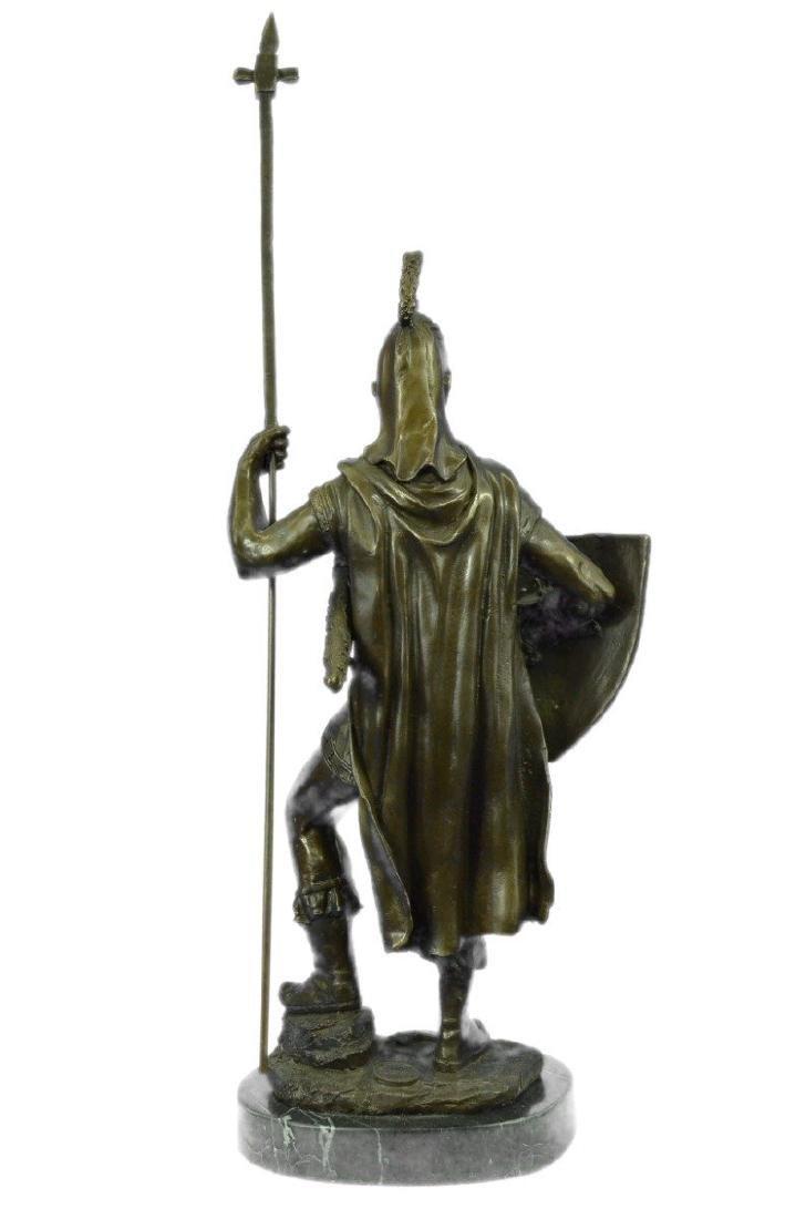 Roman Warrior with Armor Bronze Sculpture - 7
